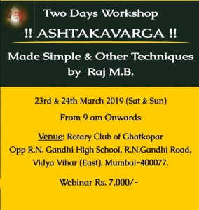 Recordings of Two Days Webinar on AshtakVarga by Shri Raj M. B. [SA]