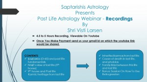Past Life Astrology Webinar 'RECORDINGS' By Visti Larsen