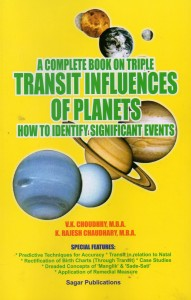 A Complete Book On Triple Transit Influences of Planets by V.K. Choudhry , K. Rajesh Choudhary sagar publications astrology books