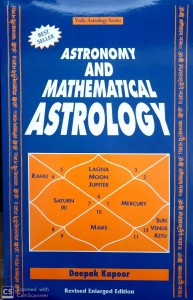 Astronomy And Mathematical Astrology By Deepak kapoor