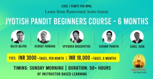 Jyotish Pandit Beginners Course Level 1 SA