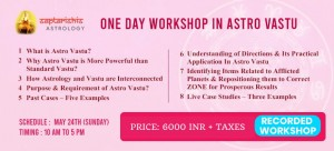 RECORDED : One Day Workshop in Astro Vastu By Hanish Bagga SA