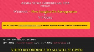 New Insights On Retrogression By  V P Goel -  Webinar [SA]