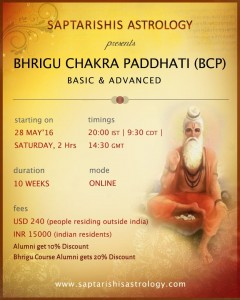 Recordings:  Bhrigu Chakra Paddhati Level I  (Basic To Advanced) - Online Course [SA]