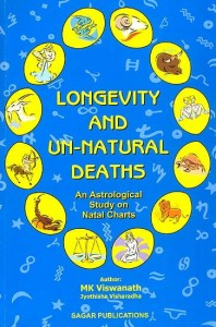 Longevity and Un-natural Deaths by M.K. Vishwanath sagar publications astrology books