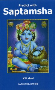 Predict With Saptamsha by V P Goel sagar publications astrology books