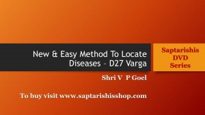 New & Easy Method To Locate Diseases – D27 Varga - Saptarishis DVD Series by v p goel