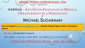Webinar – Advanced Principles of Mental Derangement In a Horoscope By Michael Sugarman [AVG, USA]