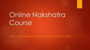 Recordings - Predictive Nakshatra Online Course - Level 1