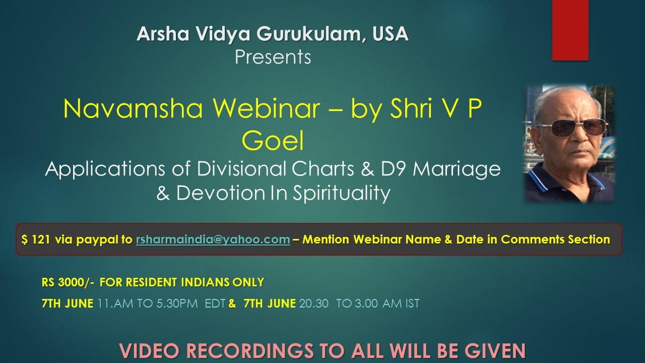 [Webinar] International Clients - Divisional Charts & Navamsa by VP Goel  [SA]