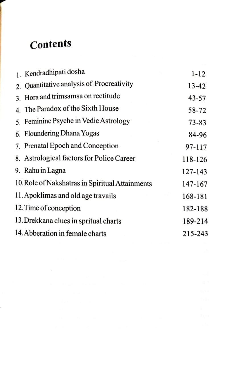CONCEPT AND ANALYSIS IN ASTROLOGICAL CHARTS BY DR V P  SHUKLA [CBH]
